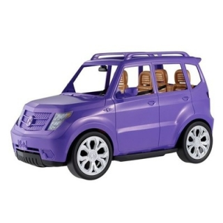 Bábika barbie - DVX58 BARBIE SUV PURPLE AUTO CAR WYS.24H