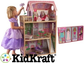 Bábika barbie - Dollhouse KidKraft Ava 65900
