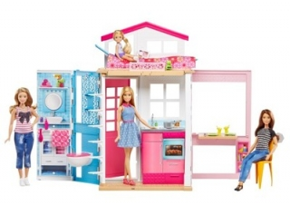 Bábika barbie - MATTEL DOMEK DLA DOLLKA + DOLL BARBIE 2017 DVV48
