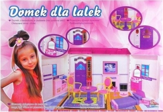 Bábika barbie - BIG BEAUTIFUL HOUSE BARBIE svetlý zvuk 182p